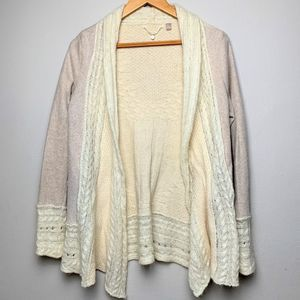 Anthro Knitted and Knotted Long Cardigan M